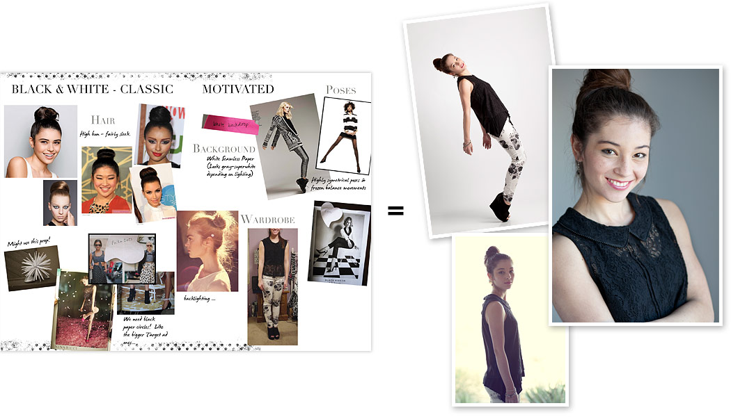 Moodboard - Black and white outfit